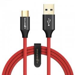 Cablu de date USB-C , BlitzWolf Ampcore BW-TC10 , 1.8m , rosu