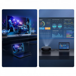 Cablu HDMI 2.0 Baseus, 4K 60 Hz 3D HDR 18 Gbps 5 m , negru (CAKGQ-C01)