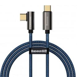 Cablu USB-C la USB-C Baseus Legend Series, PD, 100W, 2m (blue)
