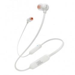 Casti in ear JBL T110BT, bluetooth, microfon, Alb