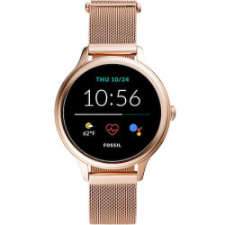 Ceas Smartwatch Fossil Gen 5, DW11F1, 42 mm, NFC, Stainless Steel Auriu Roz