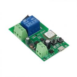 Comutator cu releu inteligent SmartWise 5V-32V cu 1 banda, cu contact uscat si comutator momentan, compatibil eWeLink / Sonoff, Wi-Fi + RF