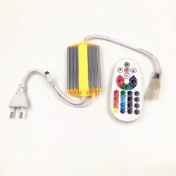 Controller banda LED RGB, 220V, 1500W, telecomanda IR