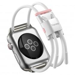 Curea Baseus Let's Go pentru Apple Watch 3/4/5 38 mm / 40 mm (alb și roz)