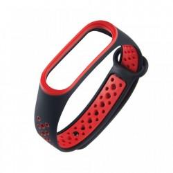 Curea Puky pentru Xiaomi Mi Band 4 / Mi Band 3 sport rosu negru