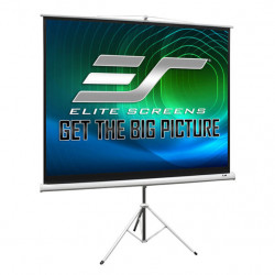 Ecran proiectie cu trepied, 240 x 180 cm, profesional, EliteScreens T120NWV1, Format 4:3, Carcasa Alba