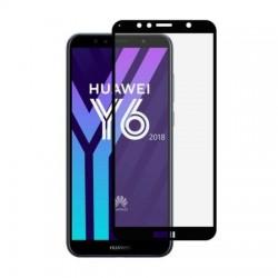 Folie Sticla Premium pentru Huawei Y6 (2018) & Y6 Prime (2018), Full Cover (acopera tot ecranul), 5D, Full Glue, Negru