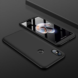 Husa 360° Matte Full Protection Gema Mixt pentru Xiaomi Mi A2 Lite / Redmi 6 Pro (fata + spate ) , negru