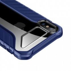 Husa protectie antisock, Baseus Michelin, pentru iPhone XS / X, albastru