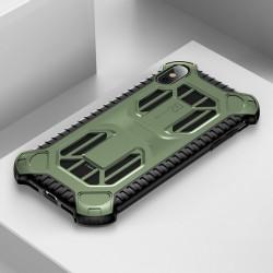 Husa protectie cu gauri pentru ventilatie, Baseus Cold Front, pentru iPhone XS Max, verde