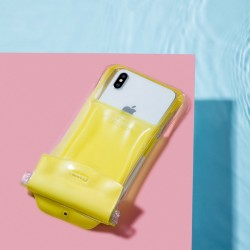 Husa protectoare telefon Baseus Safe Airbag Waterproof , galben