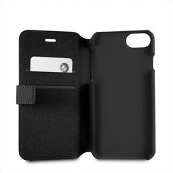 Husa telefon din piele ecologica , tip flip cover , Bmw pentru Apple iPhone 7 / 8 , neagra