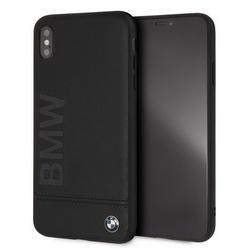 Husa telefon din piele naturala , tip bumper , Bmw pentru Apple iPhone Xs Max , neagra