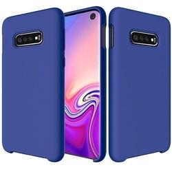 Husa telefon din silicon flexibil cu interior din material microfibra impotriva zgarieturilor , Gema Mixt pentru Samsung Galaxy S10E , albastru inchis