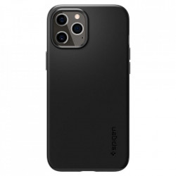 Husa telefon Spigen Thin Fit pentru iPhone 12 Pro / iPhone 12 Black