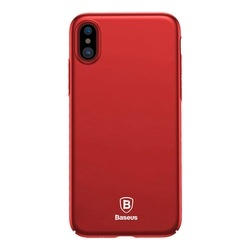 Husa telefon tip bumper , ultra subtire si usoara Baseus Thin pentru Apple iPhone X/XS , rosu
