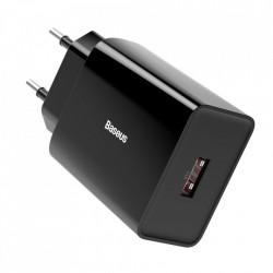 Incarcator priza Baseus fast charge USB 18 W 3 A Quick Charge 3.0 negru (CCFS-W01)