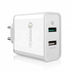Incarcator UGREEN Quick Charge 3.0 2x USB 30W 3A - alb