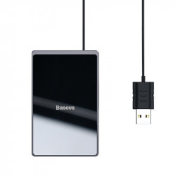 Incarcator wireless Qi Baseus Card 15W (negru)