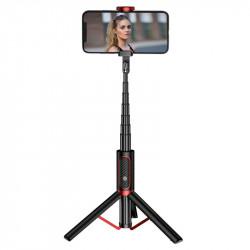 Joyroom Phantom Series Selfie stick,trepied cu telecomanda bluetooth, negru (JR-Oth-AB202)