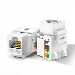Module de rețea neecranate Ugreen Keystone Ethernet Cat 5e 8P8C RJ45 100 Mbps 568A / B alb (80176 NW142)