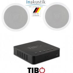 Pachet sonorizare stereo multiroom prin streaming WI-FI cu TIBO BOND 4 si 2 boxe de tavan Inakustik Ambientone R1