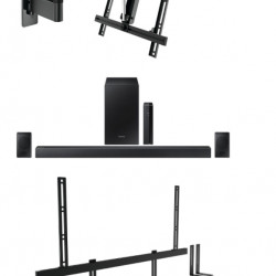Pachet soundbar cu Suport TV W53070, Suport Soundbar Vogel's Sound 3550 si Soundbar Samsung HW-R470, 4.1, 240W, Wireless