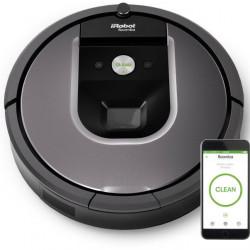Robot de aspirare iRobot Roomba 960, iAdapt 2.0, iRobot Home, Dirt Detect, Negru/Gri