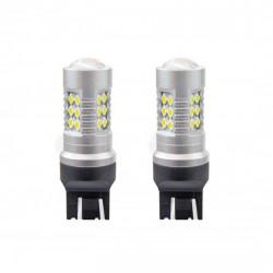 Set 2 x LED 1157 CANBUS 24SMD 3030 T20 7443 21/5W White 12V/24V