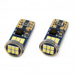 Set 2 x LED CANBUS 18SMD UltraBright 2016 T10e (W5W) White 12V/24V