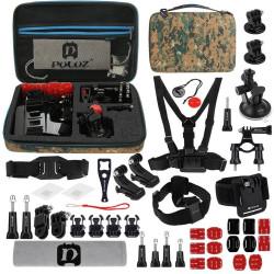Set de 45 de accesorii Puluz pentru camerele de sport PKT29