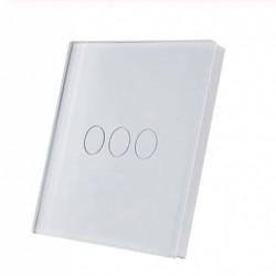 SmartWise T1R3W (R2) 3-band RF telecomanda fara fir comutator tactil de perete (alb)