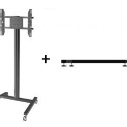 Stand TV fix sau mobil de podea Multibrackets 0643+2197, inaltime reglabila, diagonale intre 32''-63'', max. 50 kg