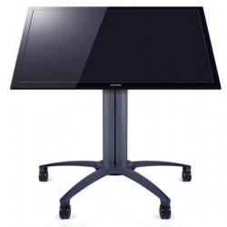 """Stand TV Podea Mobil Multibrackets 6252, cu incl. 0-90º, tip masa, inaltime 110 cm, diagonale 32-55"""", negru, max. 80kg"""