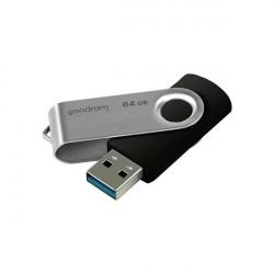 Stick USB Goodram 64 GB USB 3.2 Gen 1 60 MB/s (rd) - 20 MB/s (wr) flash drive black (UTS3-1280K0R11)