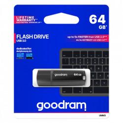 Stick USB Goodram 64 GB USB 3.2 Gen 1 60 MB/s (rd) - 20 MB/s (wr) flash drive black (UMM3-1280K0R11)