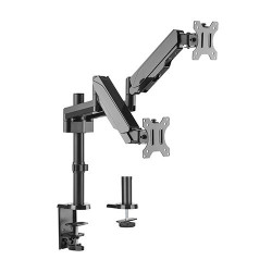 """Suport 2 monitoare Gas Spring Dual Arm Blackmount MNT16-2, 17""""-32"""""""