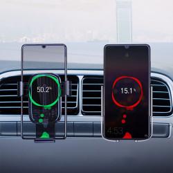 Suport auto cu incarcare wireless Baseus Explore Qi 15 W transparent (WXYL-K02)