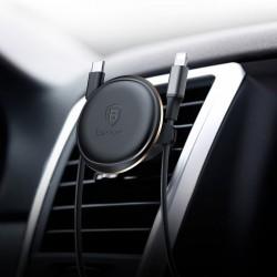 Suport Auto Premium Baseus Magnetic Pentru Ventilatie Cu Prindere Pentru Cablu Negru