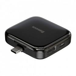 Adaptor Baseus 4x USB 2.0 HUB cu mufa USB de tip C (OTG) - negru