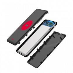 Baterie externa , Baseus Simbo Smart , 10000mAh , 1 x USB C PD , 1 x Lightning 1 x USB , 3A , negru