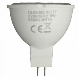 Bec Led Mr16 model R50, 6W=50W, 6500K, lumina rece