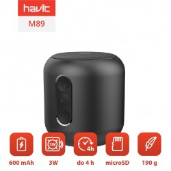 Boxa portabila Bluetooth wireless Havit M89 (negru)