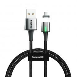 Cablu de date din zinc,magnetic, Baseus USB la Type-C 2A 2m Black ( CATXC-B01)