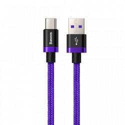 CABLU DE DATE USB-C, BASEUS PURPLE GOLD RED, SUPERCHARGE 40W, QUICK CHARGE 3.0, 1 M, ALBASTRU