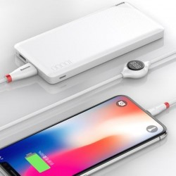 Cablu Lightning pentru iPhone cu afisaj digital, 2A , 1.2M, Baseus Big Eye CALEYE-01, alb