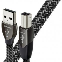 Cablu USB A-B AudioQuest Diamond 1.5m, DBS Black, Solid 100% Silver