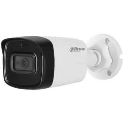 Camera de supraveghere Dahua HAC-HFW1200TL-A, HD-CVI, Bullet, 2MP 1080P, CMOS 1/2.7'', 3.6mm, 2 LED, IR 80m, IP67, Microfon, Carcasa metal+plastic
