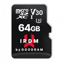 Card de memorie Goodram Microcard 64 GB micro SDHC SDXC UHS-I U3 V30 memory card SD adapter black (IR-M3AA-1280R12)