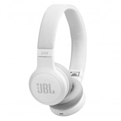Casti On-Ear JBL LIVE 400BT, JBL Signature Sound, Voice Assistant, Bluetooth Wireless, TalkThru Technology, Alb